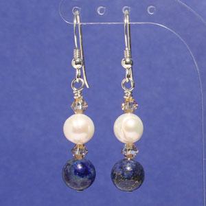Freshwater pearl lapis lazuli