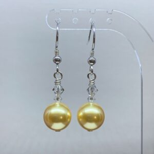 Swarovski crystal pearl earrings