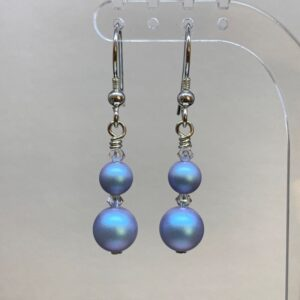 Swarovski pearl crystal earrings