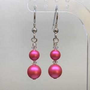 Swarovski pearl crystal earrings