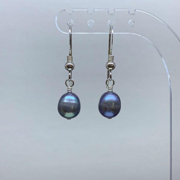 Freshwater pearl peacock earrings