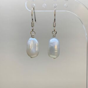 Freshwater pearl baroque earrings