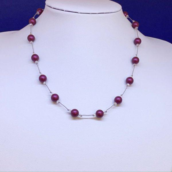Swarovski Crystal Pearl Necklace