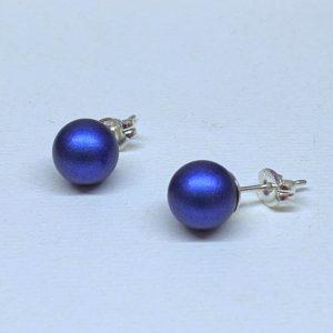 Swarovski crystal pearl studs