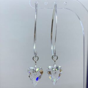 Swarovski crystal heart earrings