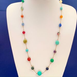 Multi gemstone neclace