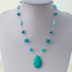 Multi gemstone pendant necklace